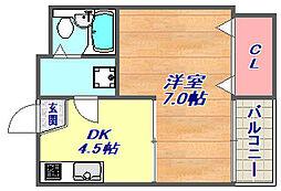 ピアシティ魚崎[4階]の間取り