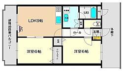 JR磐越西線 猿和田駅 4.5kmの賃貸マンション 1階2LDKの間取り