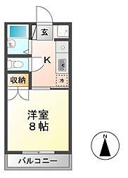 プリオールU[2階]の間取り