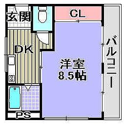 クロスコーポ93[402号室]の間取り