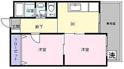 大栄マンション[1階]の間取り