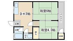 大宅マンション[204号室]の間取り