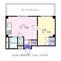 ふぁみーゆ沢之町[5階]の間取り