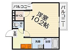 大阪府堺市西区鳳中町5丁の賃貸アパートの間取り