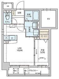 福岡市地下鉄七隈線 薬院大通駅 徒歩2分の賃貸マンション 3階1LDKの間取り