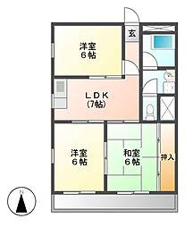 第2藤島ビル[3階]の間取り