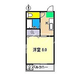 カミムラハイツ[3階]の間取り