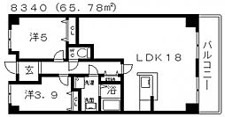 オーク一番館[504号室号室]の間取り