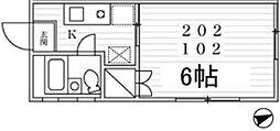 東京都杉並区堀ノ内2丁目の賃貸アパートの間取り