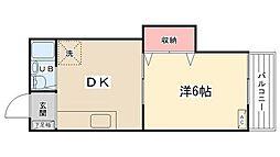 ラフィーヌ新田[102号室]の間取り