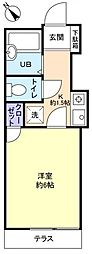 フラワー6号館[1階]の間取り