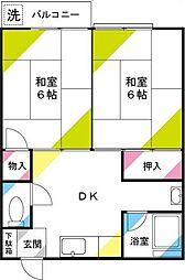 小島第二コーポ[204号室]の間取り