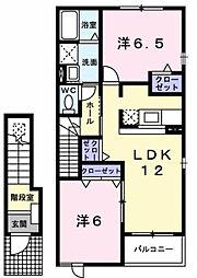 ハイツ クレイン[2階]の間取り