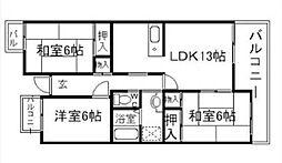 T・フリーデンハイムI[3階]の間取り