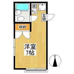東京都狛江市猪方3丁目の賃貸アパートの間取り