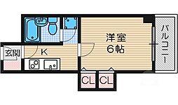 ハイツオーキタ竹橋[4階]の間取り