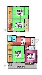 [一戸建] 埼玉県川口市大字道合 の賃貸【/】の間取り