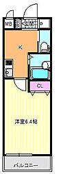 大阪府大阪市東住吉区住道矢田1の賃貸アパートの間取り