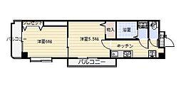 中津口センタービル[605号室]の間取り
