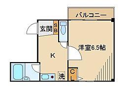 東京都世田谷区東玉川2丁目の賃貸マンションの間取り