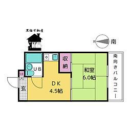 赤門サンライフマンション[4階]の間取り