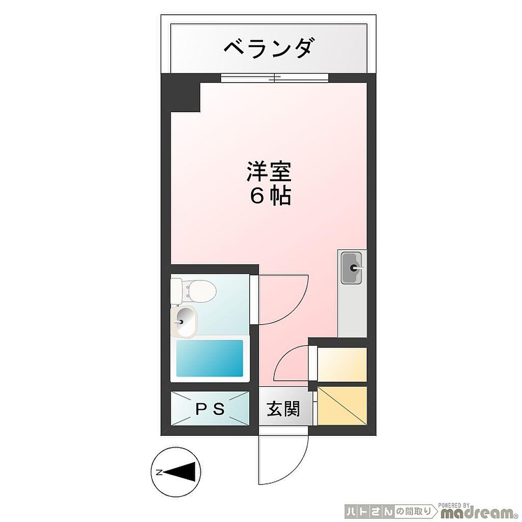 間取り(メゾン・ドノア明神町 間取り図)