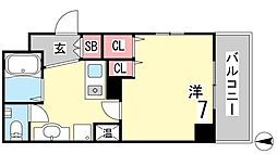 ファビュロウスSANKO[805号室]の間取り