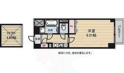 アスティエ渋谷松涛 4階1Kの間取り