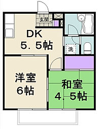 千葉県松戸市牧の原2丁目の賃貸アパートの間取り