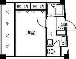 タ−トルビルII[702号室]の間取り