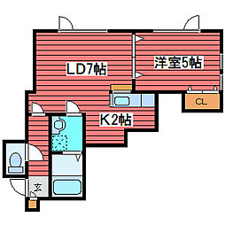 クレインコート1[2階]の間取り