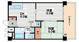 玉堀シャトー[2階]の間取り