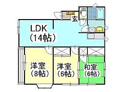POSH HOUSE I[201号室号室]の間取り