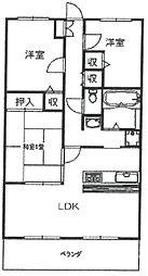 ハイズコート武庫之荘[105号室]の間取り