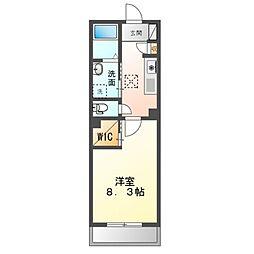 JR内房線 八幡宿駅 徒歩7分の賃貸マンション 1階1Kの間取り