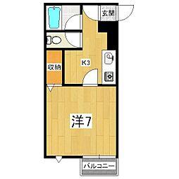 ハーミテージ安朱[2階]の間取り