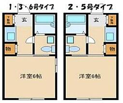 兵庫県姫路市菅生台の賃貸アパートの間取り