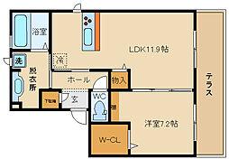 コージーコート大興 2[1階]の間取り