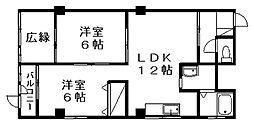 中野プラザ[506号室]の間取り