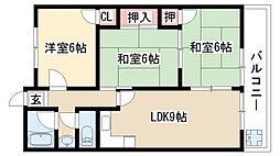 愛知県名古屋市緑区大高町寅新田の賃貸マンションの間取り