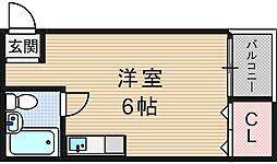 千代崎ハイツ[2階]の間取り