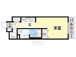 DAIWA RESIDENCE IBARAKI 1階1Kの間取り