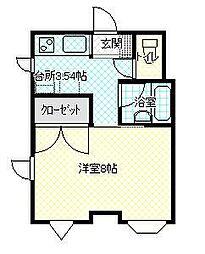 JR山形新幹線 山形駅 バス12分 六日町下車 徒歩3分の賃貸マンション 3階1Kの間取り