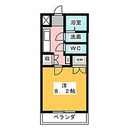 パックス御器所[3階]の間取り