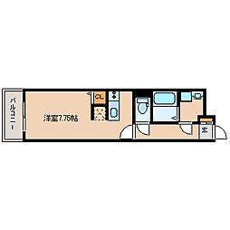 兵庫県尼崎市大庄中通1丁目の賃貸アパートの間取り