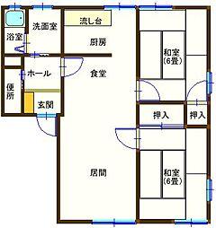 ラフォーレ大前2 201号室[2階]の間取り