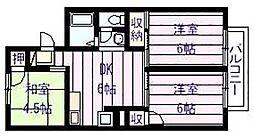 セジュール 高井[1階]の間取り