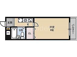 ベンベヌート大西[5階]の間取り
