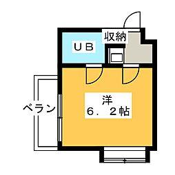 ロードパレス[4階]の間取り