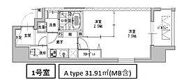 ミラージュパレス南船場[1301号室号室]の間取り